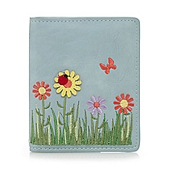 The Collection - Light blue spring time applique travel pass