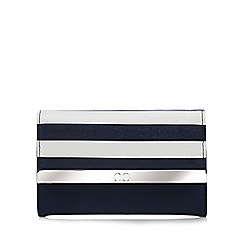The Collection - Navy striped flap over purse