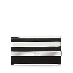 The Collection - Black striped flap over purse