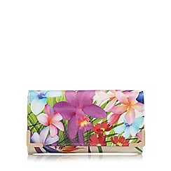 The Collection - Multi-coloured floral print large purse