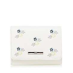 The Collection - White small floral embroidered purse