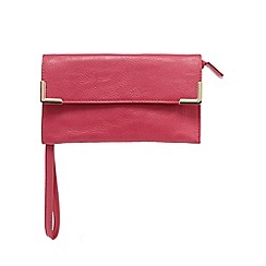 Red Herring - Pink bar trim wristlet