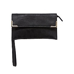 Red Herring - Black bar trim wristlet