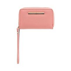 Red Herring - Pink double zip wristlet