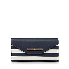 Red Herring - Navy striped large flap over purse