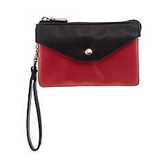 Red Herring - Dark pink large colour block wristlet
