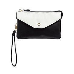Red Herring - Black large colour block wristlet