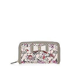 Floozie by Frost French - Light pink ballerina print zip around purse