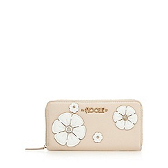 Floozie by Frost French - Light pink pansy applique diamante purse