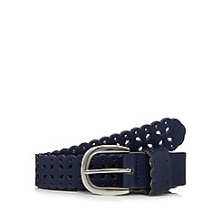 Mantaray - Navy flower cut-out belt