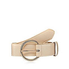 The Collection - Light pink circle buckle waist belt
