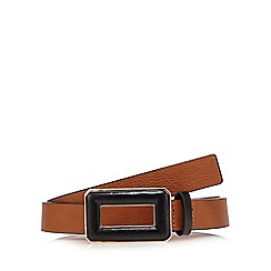 The Collection - Tan contrast buckle waist belt
