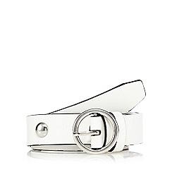 Red Herring - White studded waist belt