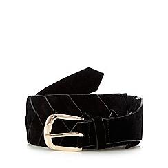 Red Herring - Black woven waist belt