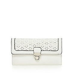 The Collection - White floral cut-out push lock purse
