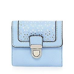 The Collection - Pale blue floral cut-out push lock purse