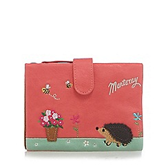 Mantaray - Coral hedgehog applique purse