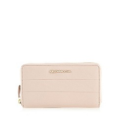 RJR.John Rocha - Light pink leather zip around purse