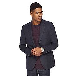 The Collection - Big and tall navy textured blazer