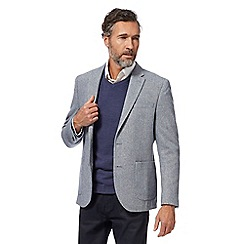 The Collection - Big and tall blue textured jacket with wool