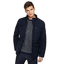 The Collection - Big and tall navy quilted jacket