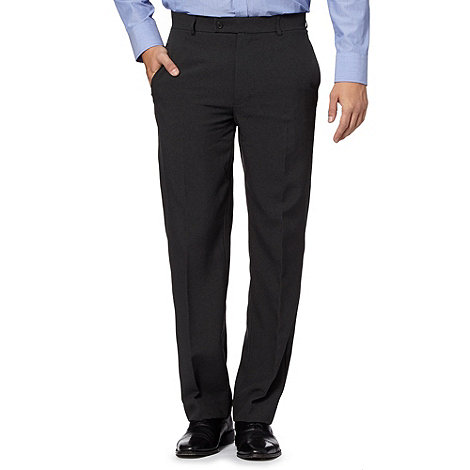 Thomas Nash - Big and tall grey easy-care formal trousers