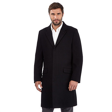 Thomas Nash - Black wool rich overcoat