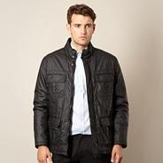 Big and tall black coated jacket