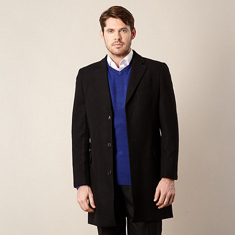 Thomas Nash - Black single breasted overcoat