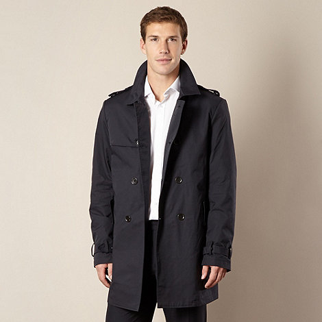 Thomas Nash - Navy double breasted trench coat