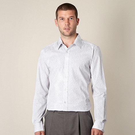 Thomas Nash - White floral long sleeved shirt