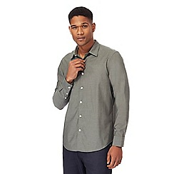 The Collection - Big and tall khaki tonic tailored fit shirt