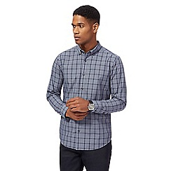 The Collection - Blue checked print tailored fit shirt