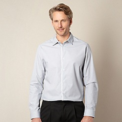 Thomas Nash - Big and tall grey mini geometric shirt