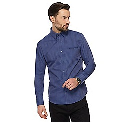 The Collection - Blue two tone spot print tailored shirt