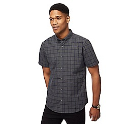 The Collection - Big and tall grey square print shirt
