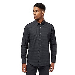 The Collection - Big and tall black dot print tailored fit shirt