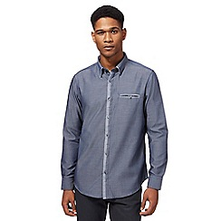 The Collection - Big and tall blue tonic tailored fit shirt