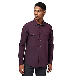 The Collection - Big and tall purple tonic tailored fit military shirt
