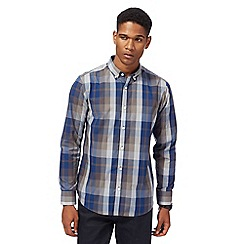 The Collection - Big and tall khaki checked print tailored shirt