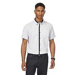 The Collection - Big and tall white textured tailored fit shirt