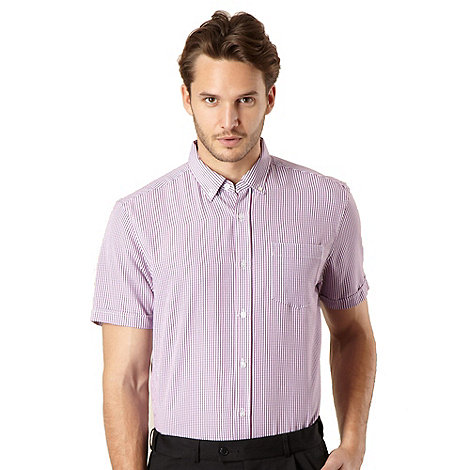 Thomas Nash - Big and tall pink gingham checked shirt