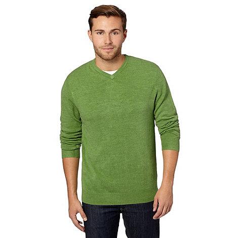 Thomas Nash - Green V neck knitted jumper