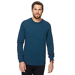 The Collection - Big and tall turquoise lambswool-blend crew neck jumper