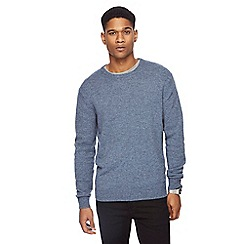 The Collection - Blue lambswool blend jumper