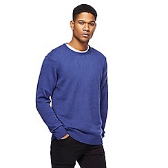 The Collection - Big and tall bright blue lambswool-blend crew neck jumper
