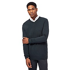 The Collection - Dark green V neck jumper
