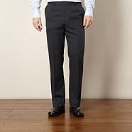 Thomas Nash - Dark blue easy care smart trousers
