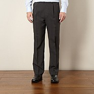 Thomas Nash - Grey checked easy care trousers