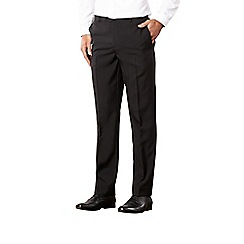 Thomas Nash - Big and tall black slim fit trousers